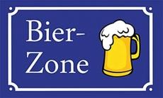 Bier Zone - 90x150 cm - Fahne
