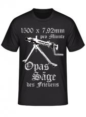 MG 42 1500 x 7,92mm pro Minute Opas Säge des Friedens - T-Shirt