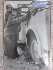 Erwin Rommel V - Blechschild