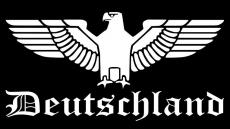 Reichsadler Deutschland - Heckscheibenaufkleber 58x29cm