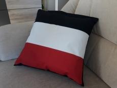 Schwarz/Weiss/Rot - Kissen 40x40 cm