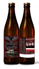 Deutsches Bier - Schwarz ist unser Panzer - Schwarzbier nach deutscher Brauart - 1 Flasche inkl. 0,08€ Pfand