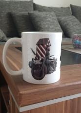 Wehrmacht Motorrad - 4 Tassen (3 Motive Rundumdruck)
