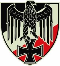 Reichsadler SWR - Aufkleber(wasserfest