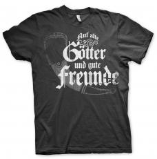 Auf alte Götter und gute Freunde - T-Shirt schwarz