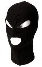 Kopfhaube/Maske Feinripp CO 3-Loch schwarz