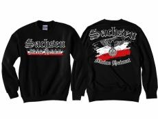 Sachsen - Meine Heimat Reichsadler - Pullover schwarz