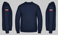 Schwarz/Weiss/Rot Ärmel - Pullover