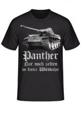 Panther, nur noch selten in freier Wildbahn - T-Shirt