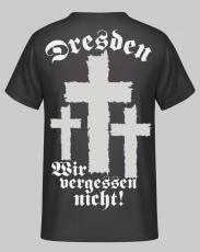 Dresden (Wunschtext) - Wir vergessen nicht! T-Shirt Rückendruck