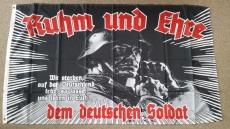 Ruhm und Ehre dem deutschen Soldaten - Fahne 150x90cm(Nicht mehr viele da)