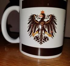 Preußen Flagge - Tasse (Rundumdruck 3x Preußen Adler)