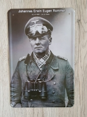 Erwin Rommel - Blechschild III