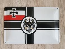 Reichskriegsflagge - Blechschild