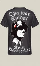 Opa war Soldat, kein Verbrecher Rücken T-Shirt II