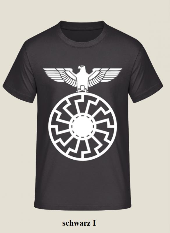 Reichsadler auf schwarze Sonne - T-Shirt