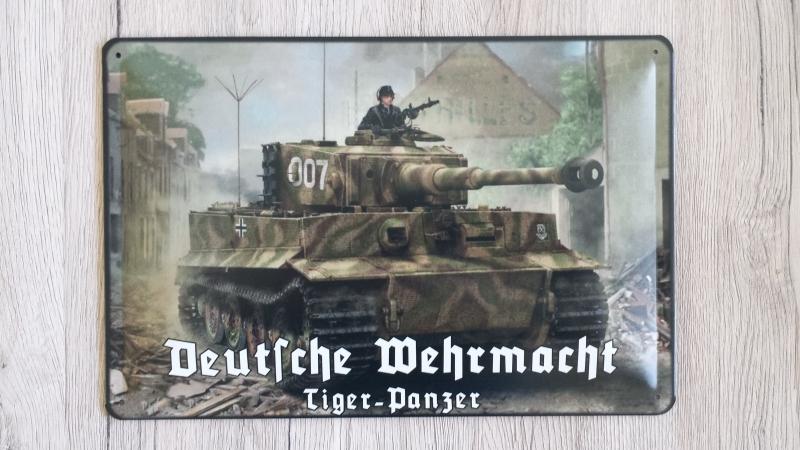Tiger Panzer Michael Wittmann - Blechschild