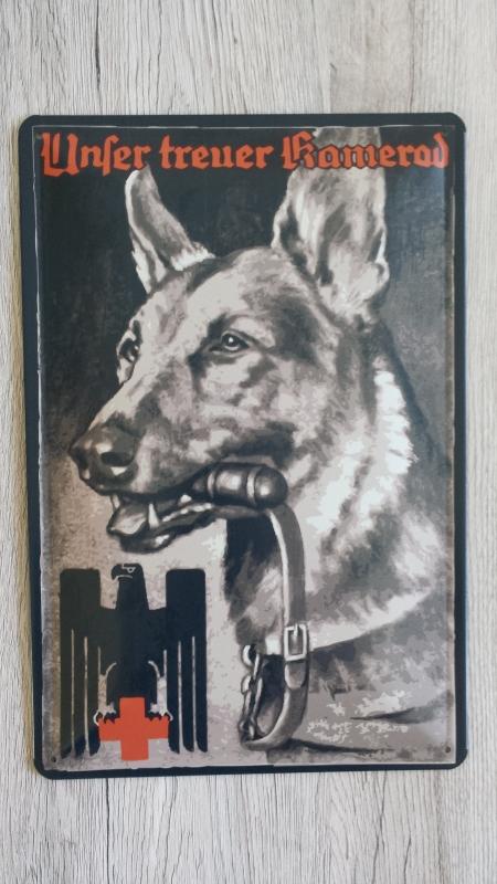 Unser treuer Kamerad - Der Deutsche Schäferhund - Blechschild