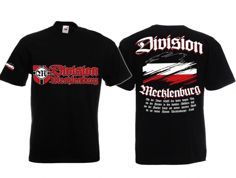 Mecklenburg Division - Meine Heimat - T-Shirt schwarz