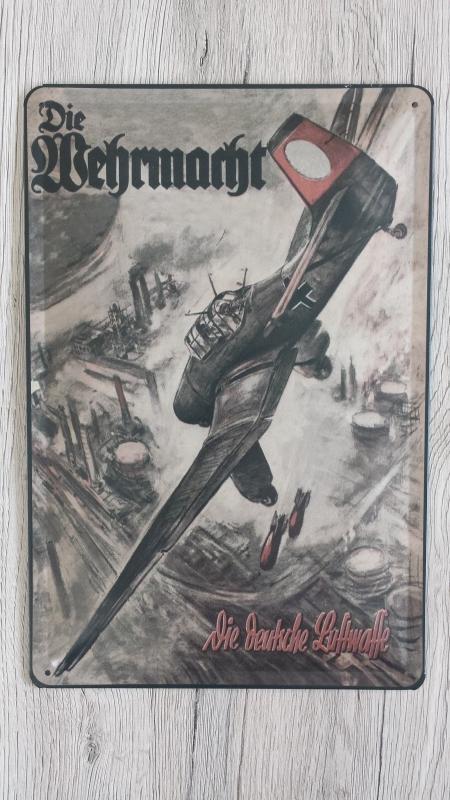 Stuka - Blechschild