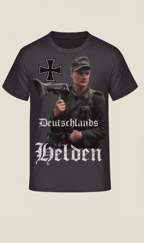 Deutschlands Helden - Wehrmacht Soldat - T-Shirt