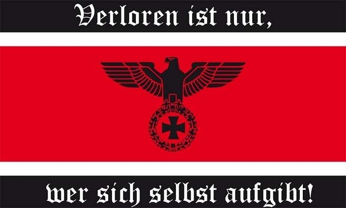Verloren ist nur, wer sich selbst aufgibt - Fahne/Flagge 150x90 cm
