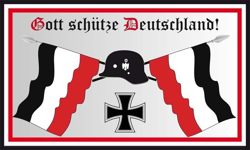 Gott schütze Deutschland - Fahne/Flagge 150x90 cm