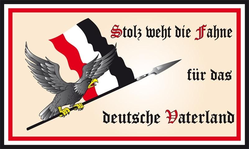 Stolz weht die Fahne für das deutsche Vaterland - Fahne/Flagge 150x90 cm