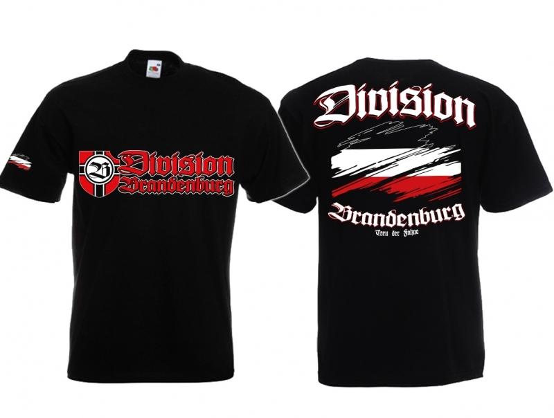 Brandenburg Division - Treu der Fahne - T-Shirt schwarz
