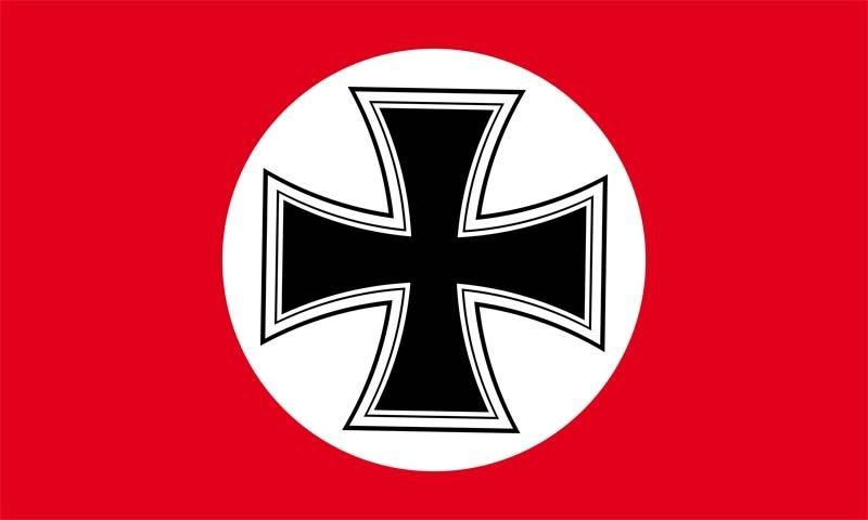 Eisernes Kreuz in Roter Fahne/Flagge - 150x90 cm