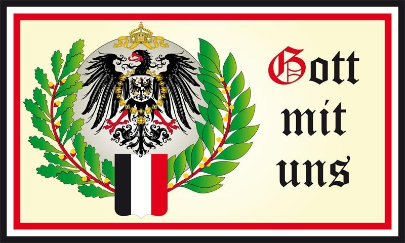 Gott mit uns - Adler Wappen Flagge 90x150 cm