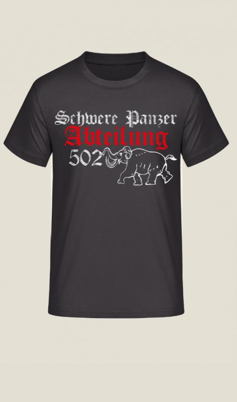 Schwere Panzerabteilung 502 - T-Shirt Frontdruck