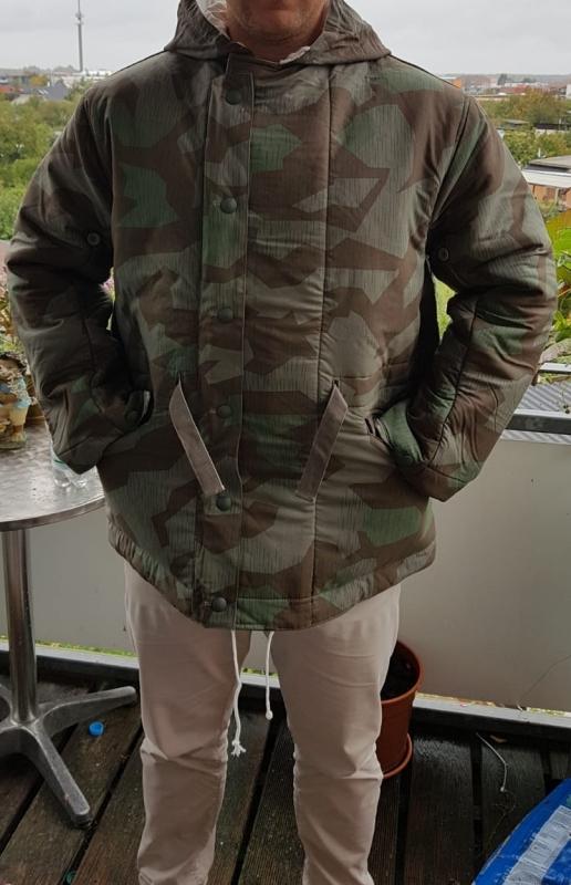 Wehrmacht Tarnwendejacke Splittertarn - Winterjacke