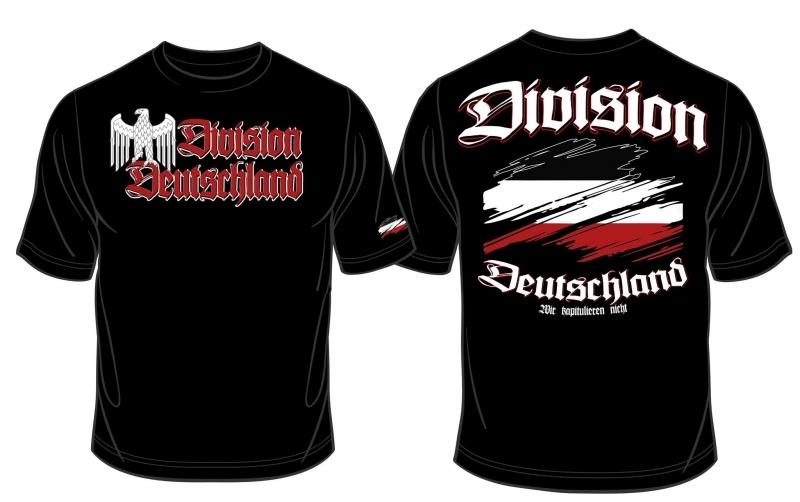 Deutschland Reichsadler Division - T-Shirt schwarz