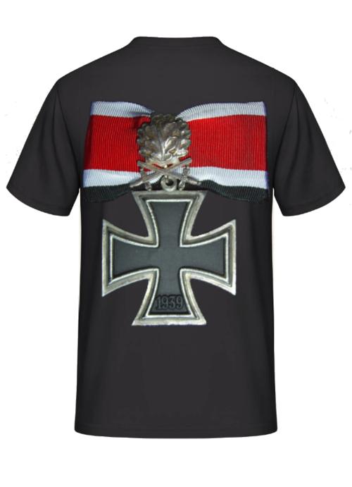 Ritterkreuz mit Eichenlaub und Schwertern - T-Shirt Rückendruck