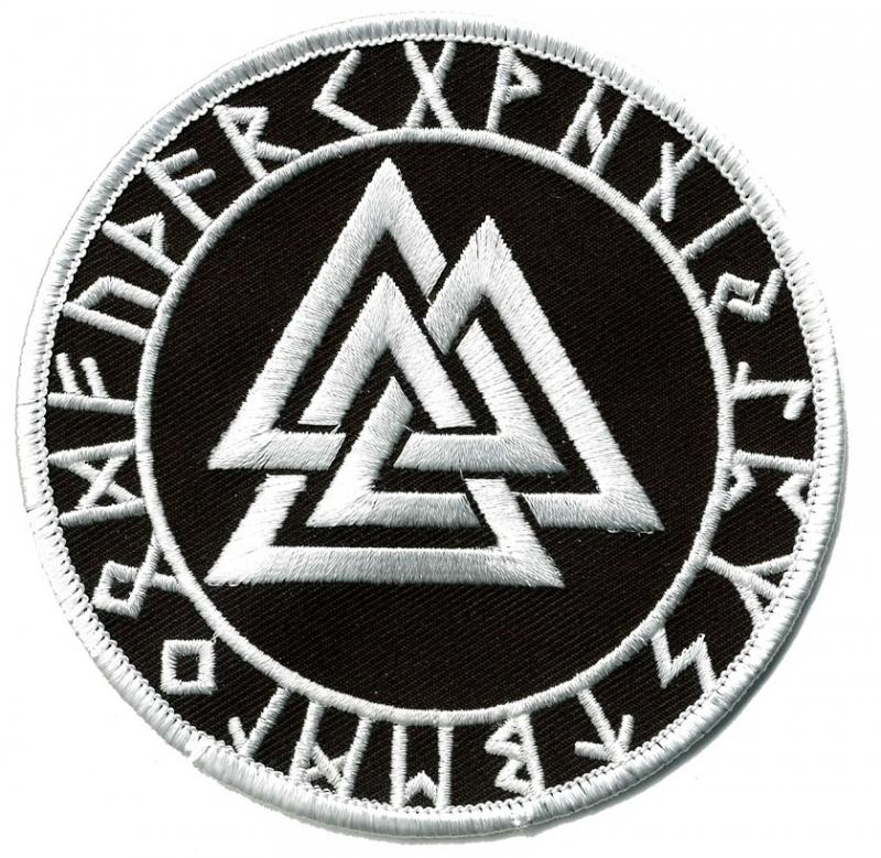 Wotansknoten mit Runen - Aufnäher