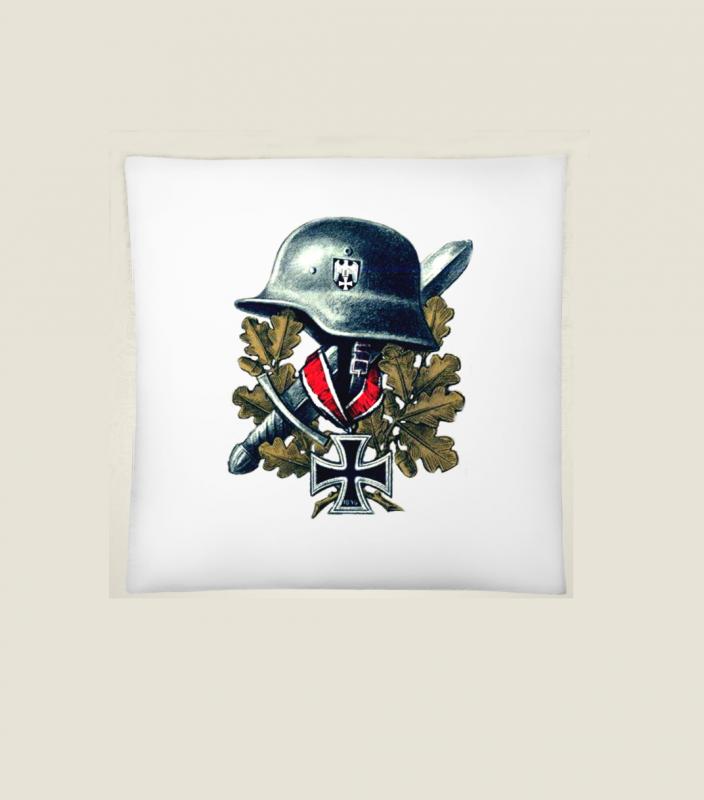 Wehrmacht Helm, Ritterkreuz - Kissen