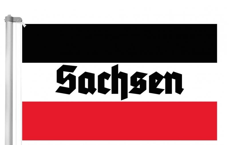 Sachsen - Schwarz/Weiss/Rot - Fahne