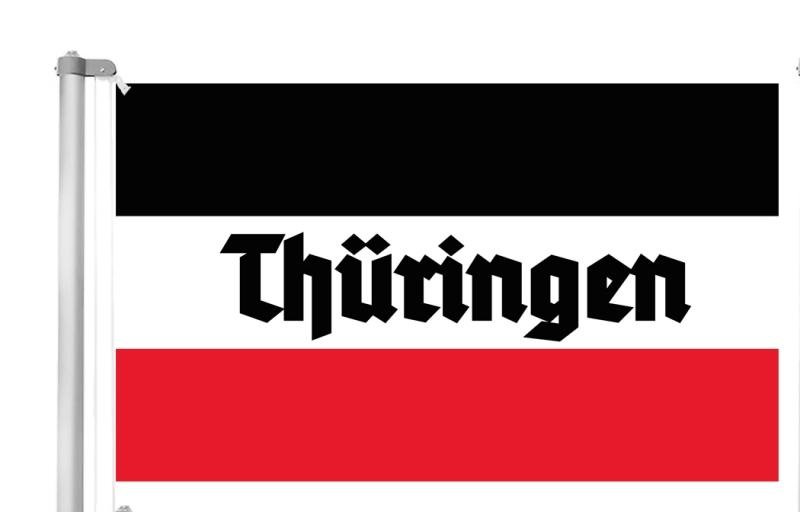 Thüringen - Schwarz/Weiss/Rot - Fahne 150x90 cm