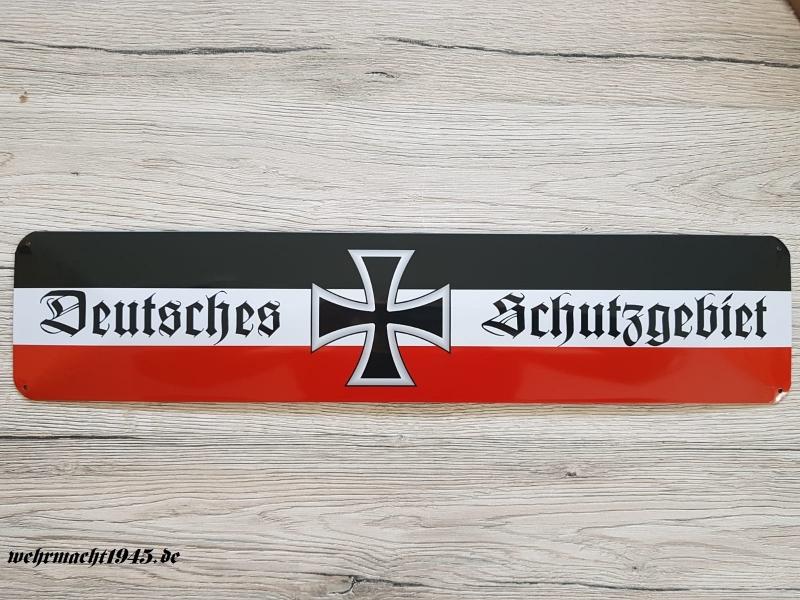 Deutsches Schutzgebiet schwarz/weiss/rot - Blechschild