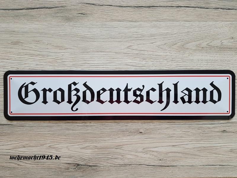 Großdeutschland - Blechschild