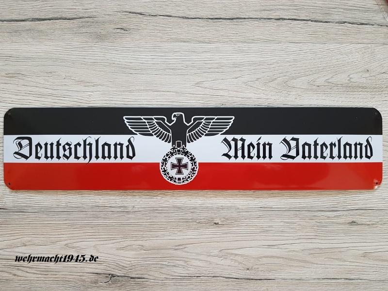 Deutschland - Mein Vaterland - Blechschild