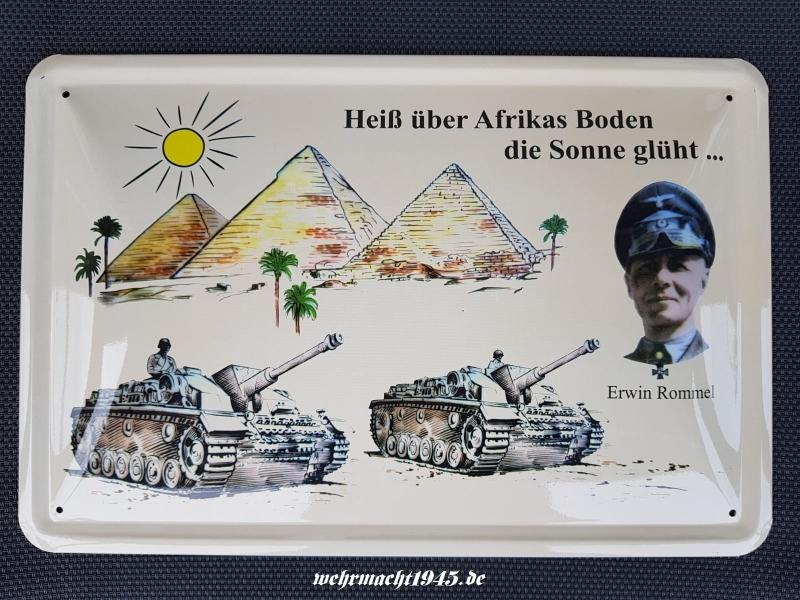 Erwin Rommel Arfika Korps - Blechschild