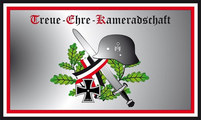 Treue, Ehre, Kameradschaft - Fahne 150x90cm