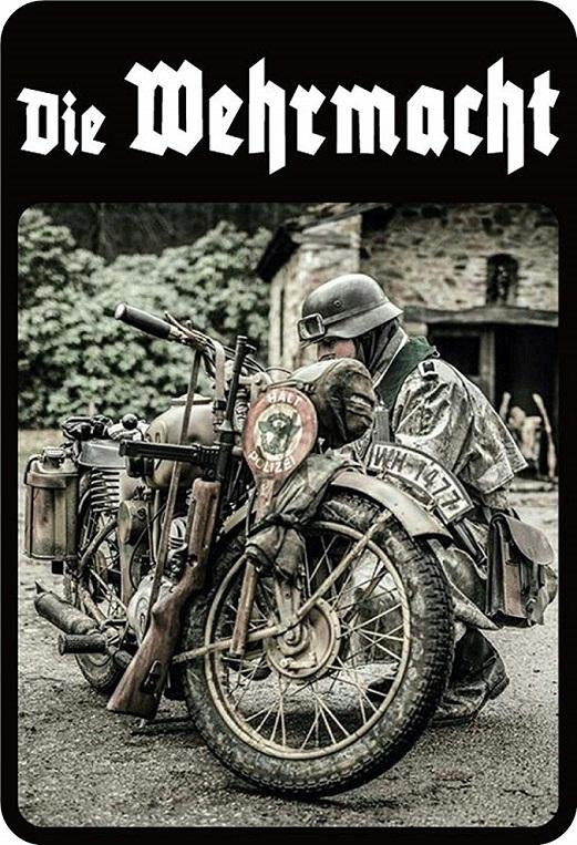 Wehrmacht Motorrad - Blechschild