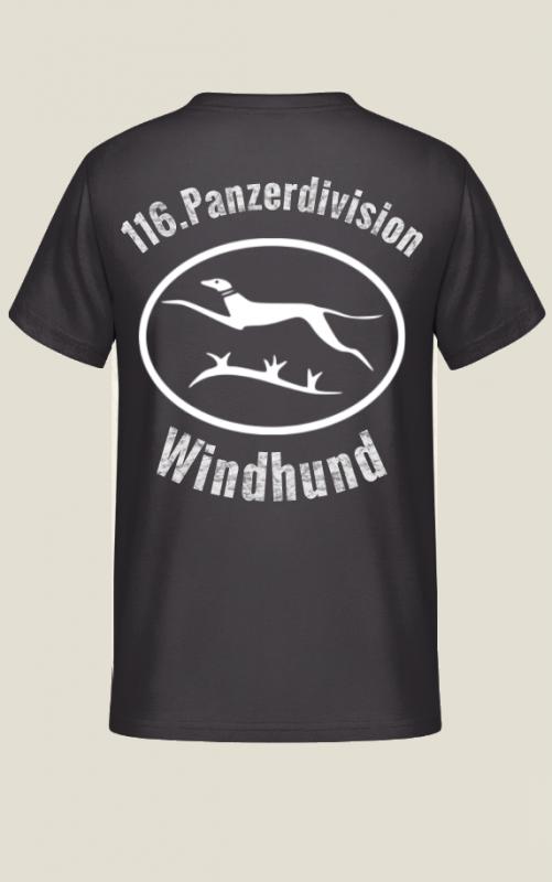 116.Panzerdivision Windhund - T-Shirt Rückendruck
