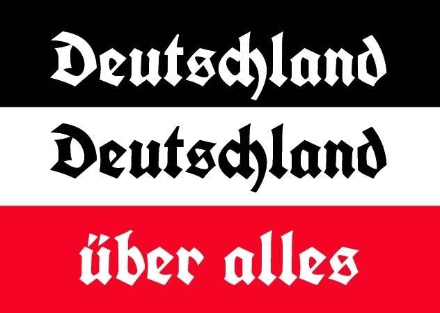 Deutschland, Deutschland über alles! - 10 Aufkleber