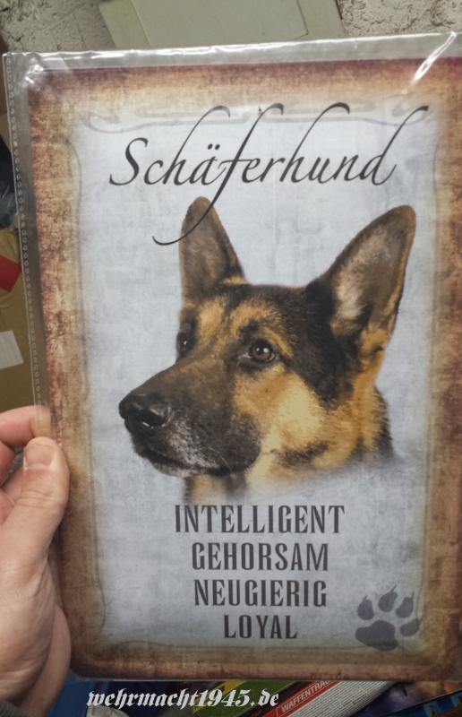 Der Deutsche Schäferhund - Blechschild