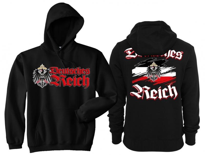 Deutsches Reich - Kapuzenpullover schwarz