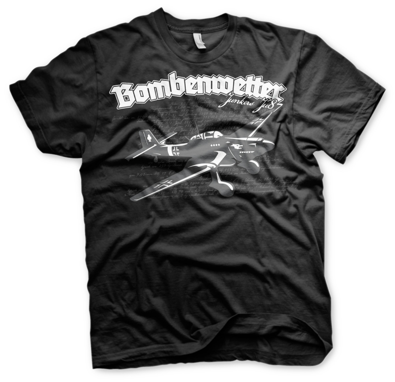 Bombenwetter Stuka - T-Shirt schwarz